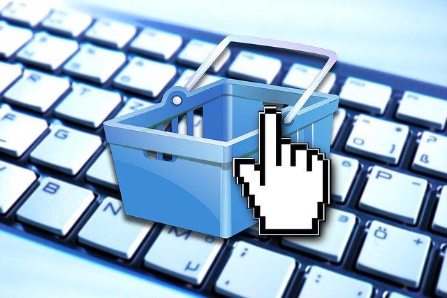Warenkorb beim Online-Shopping