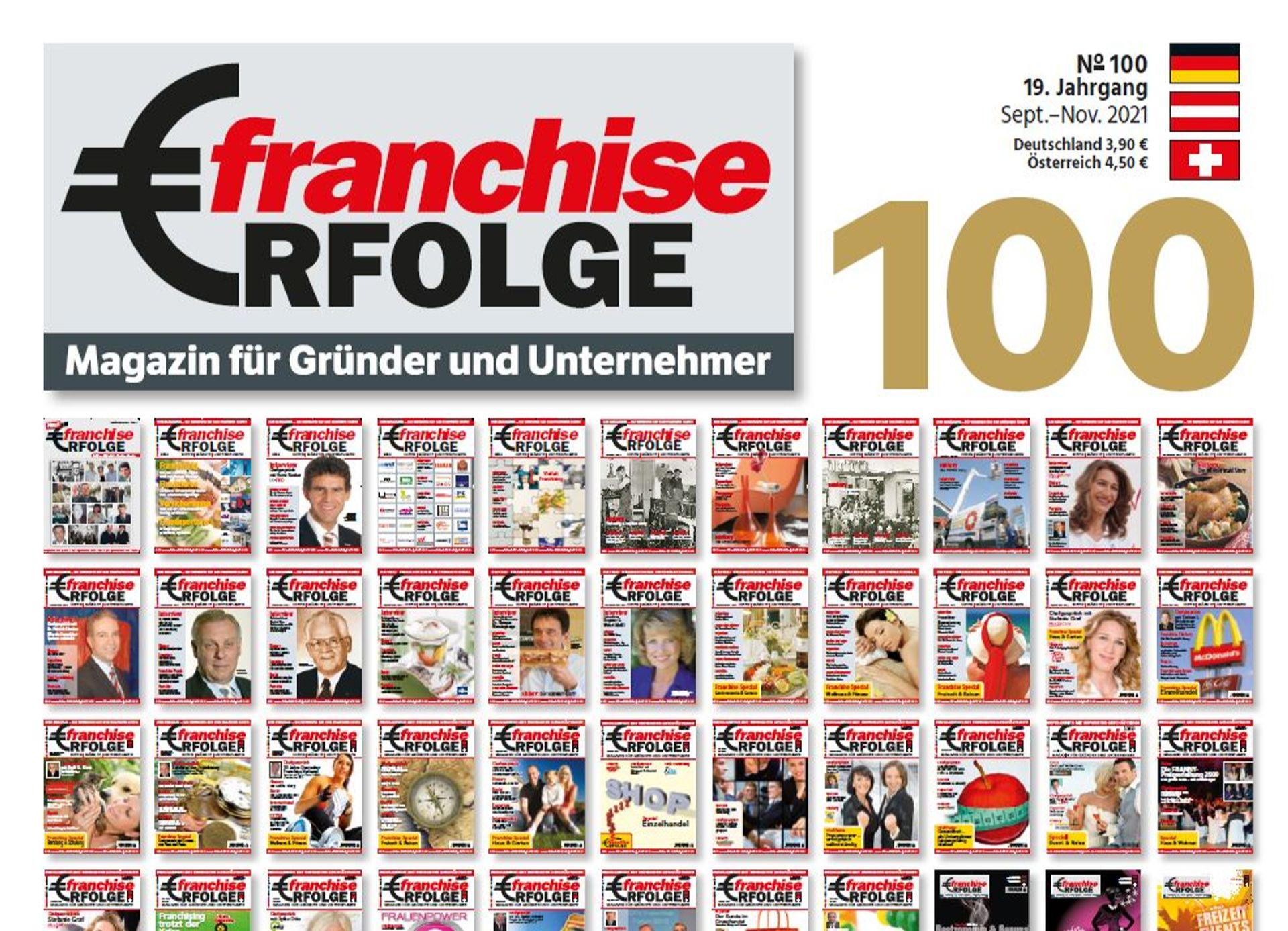 """Jubiläumsausgabe: Fachmagazin """"Franchise-Erfolge"""" zum 100. Mal erschienen"""