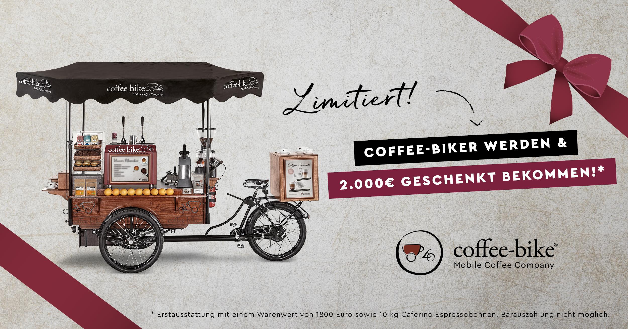 Coffee-Bike wird 10 Jahre alt! - Jetzt 2.000 Euro Jubiläumsrabatt sichern