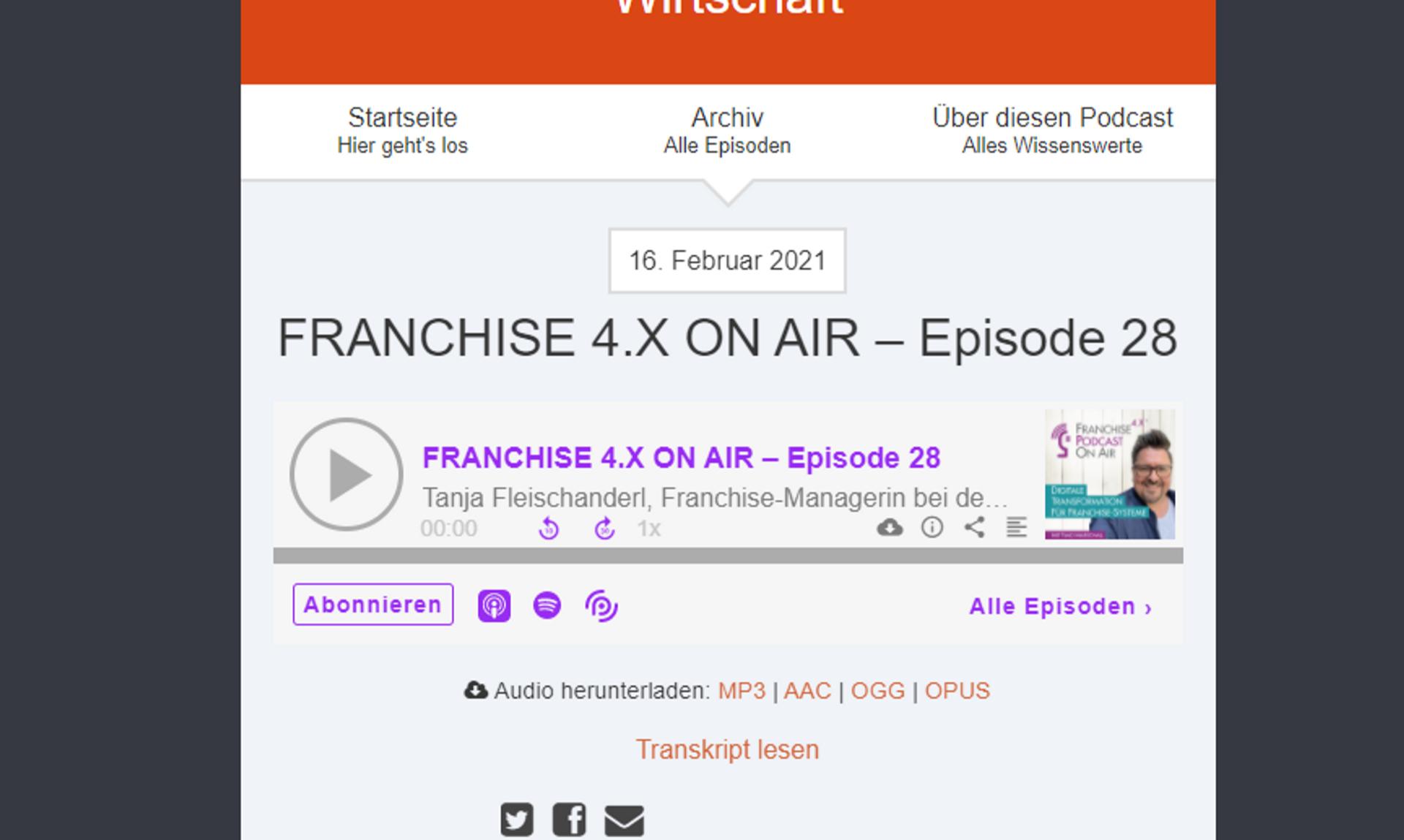 Podcast: Biogena zu Gast bei Franchise 4.X