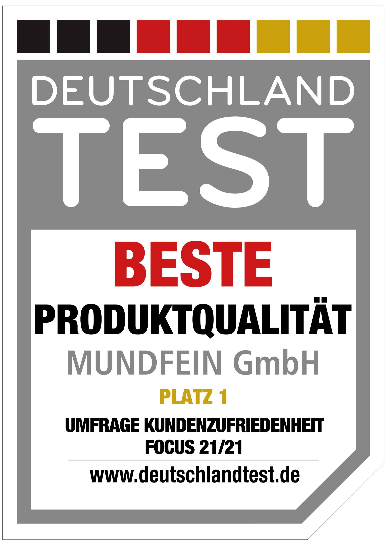 MUNDFEIN wurde ausgezeichnet - Beste Produktqualität