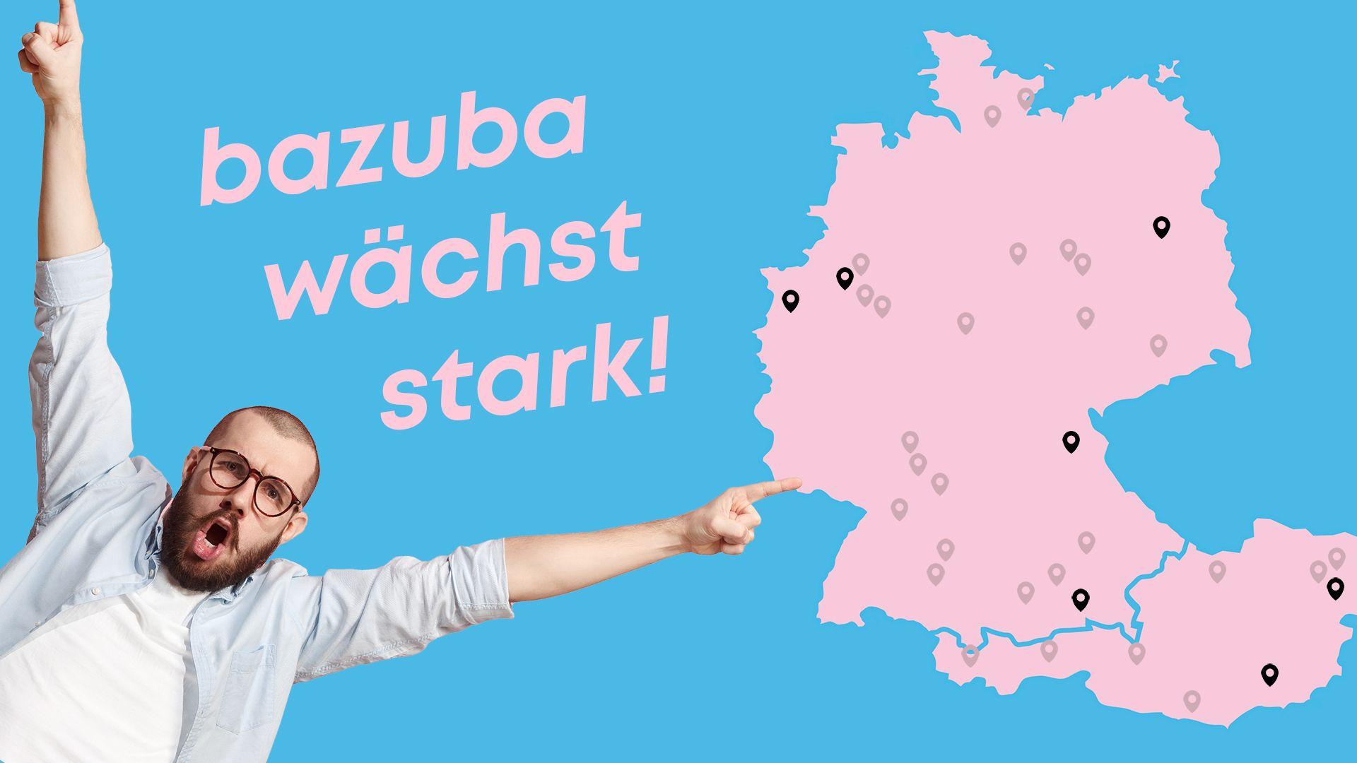 Erfolgreiche 12 Monate - 7 neue Standorte für bazuba