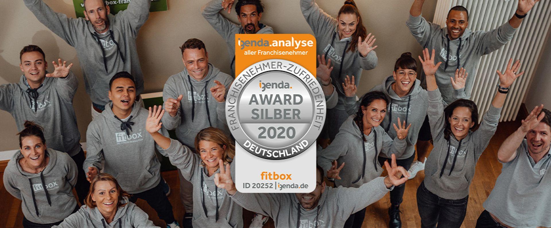 fitbox glänzt mit besonders zufriedenen Franchisepartnern – Auszeichnung mit igenda-Award 2020 in Silber