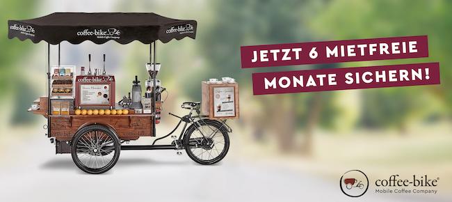 Jetzt ohne Druck in die Selbstständigkeit: 6 Monate mietfrei mit Coffee-Bike