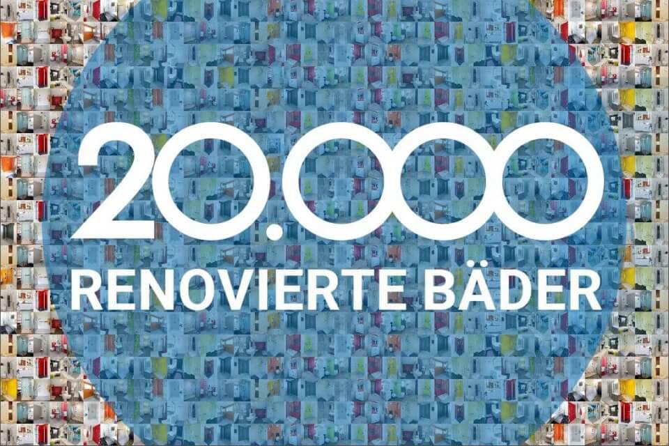 20.000 renovierte Badezimmer: Neuer Meilenstein für Viterma
