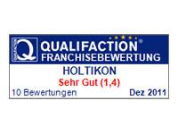 Qualifaction Franchise: Bestnote für Franchise-System Holtikon
