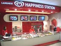 Das Geschäftskonzept von Langnese Happiness Station