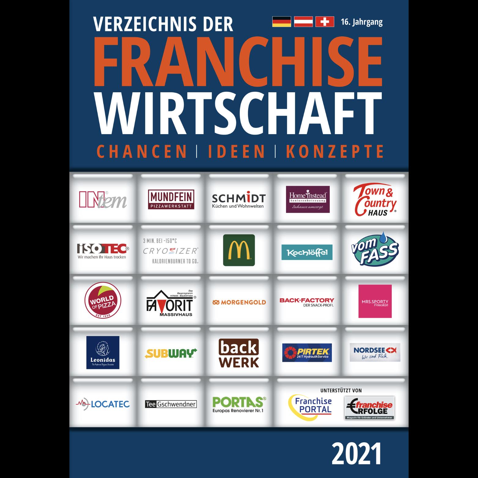 """Neu erschienen: """"Verzeichnis der FranchiseWirtschaft 2021"""" mit rund 1000 Gründungsangeboten"""