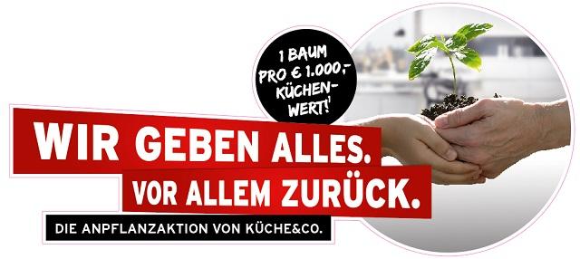 Ein Baum pro 1.000 Euro Küchenwert: Franchisesystem Küche&Co. kooperiert mit den Österreichischen Bundesforsten