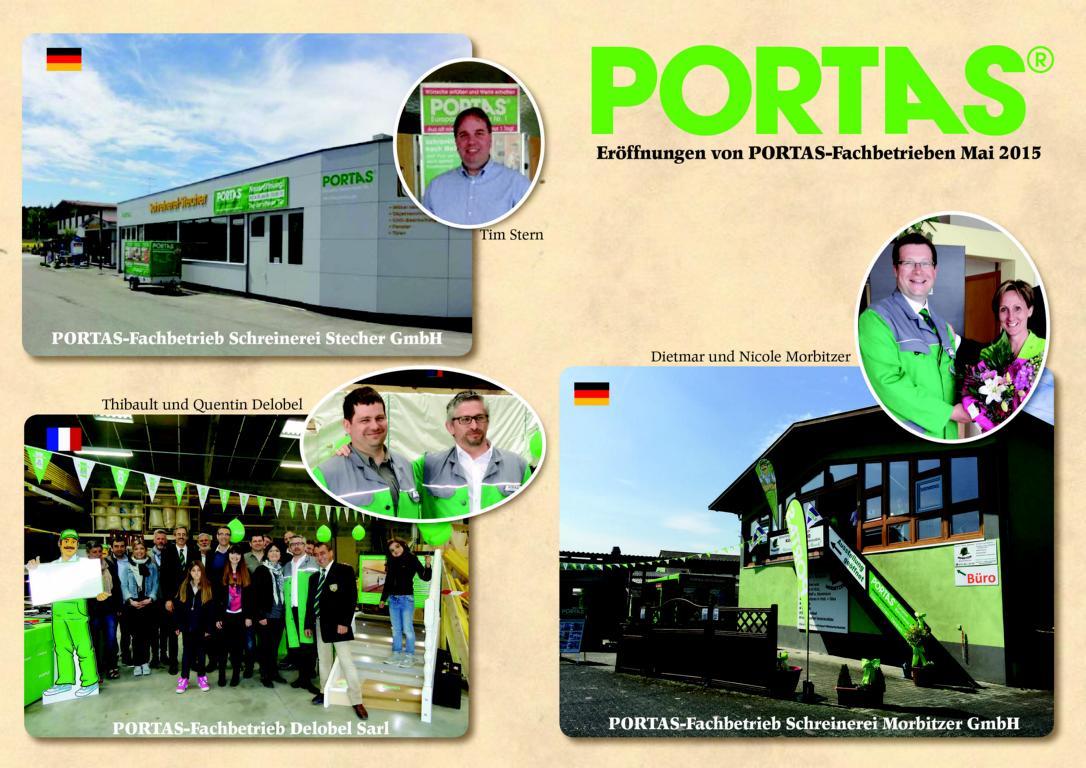 PORTAS-Monat Mai 2015 – Eröffnung von 3 PORTAS-Fachbetrieben