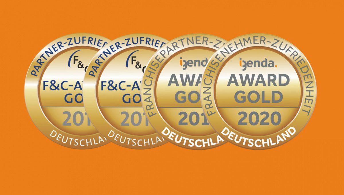 Gold Auszeichnung für Partnerzufriedenheit