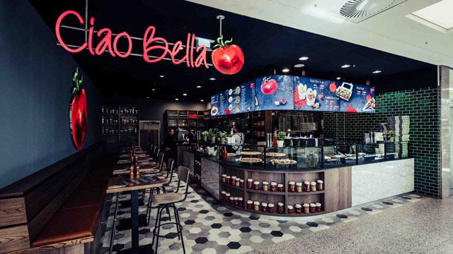 Gastronomie-System Ciao Bella: 40. Standort präsentiert neues Design