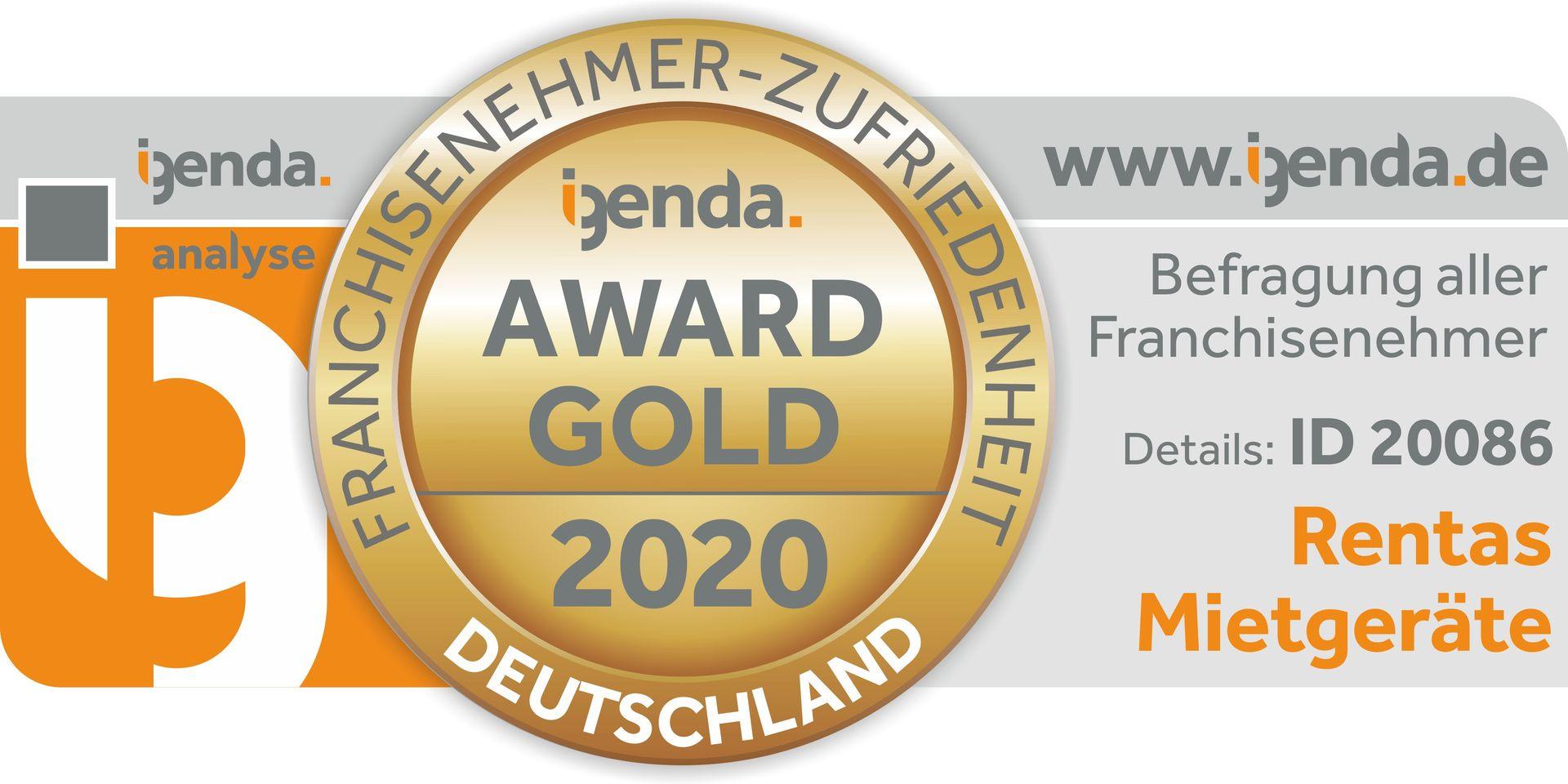 Rentas bekommt schon wieder den igenda Gold Award.