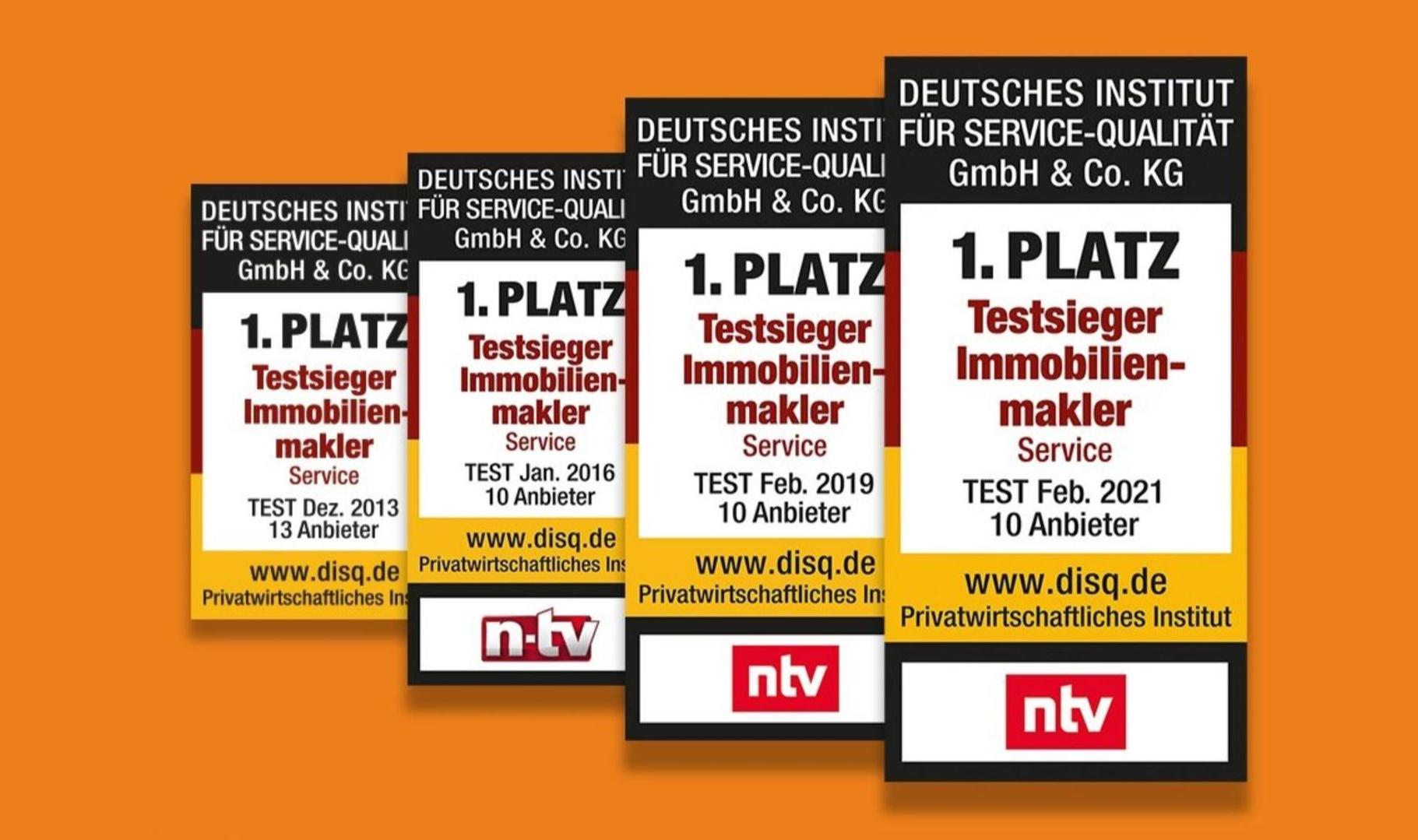 Erneuter Testsieg: Bester deutscher Immobilienmakler