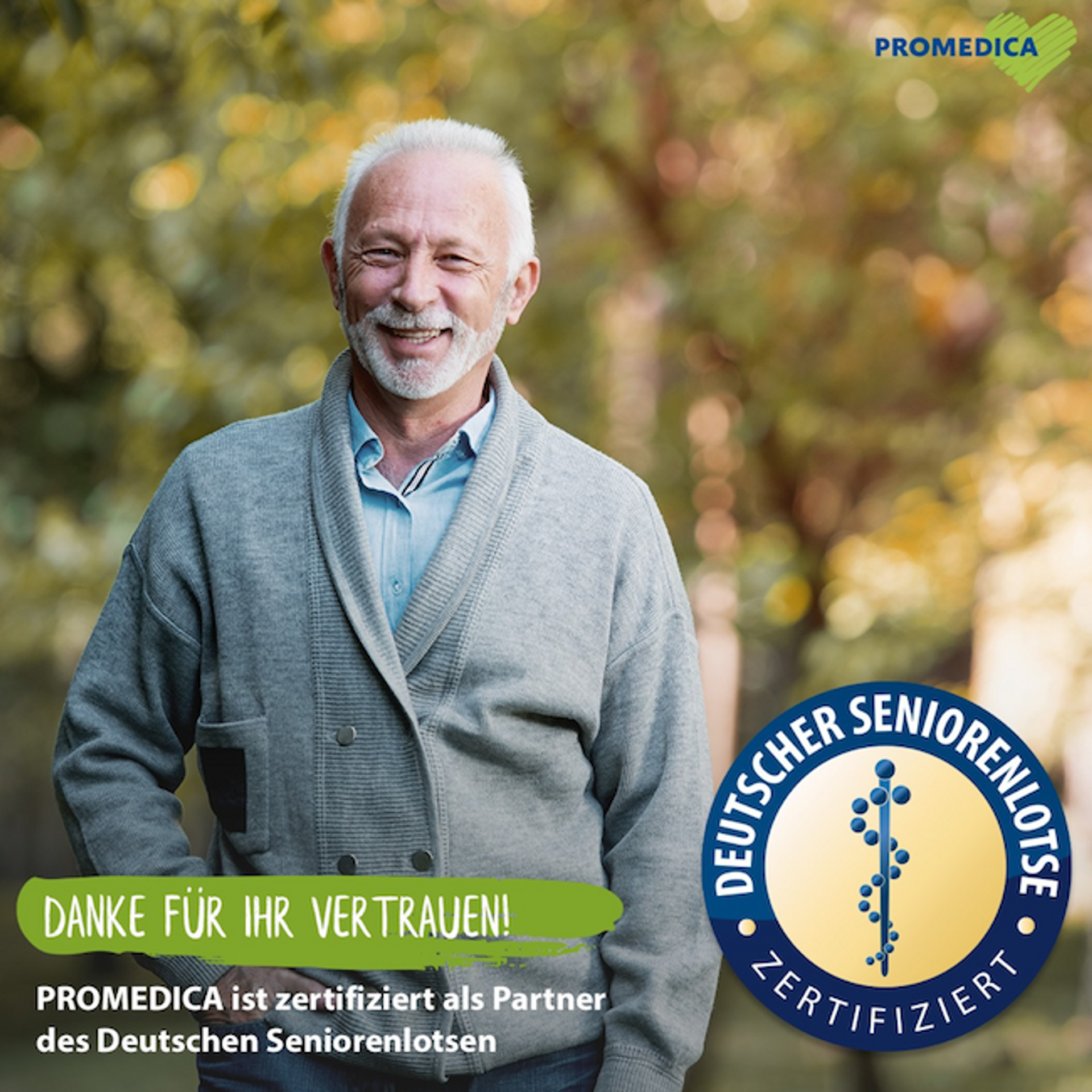 PROMEDICA PLUS: Zertifizierter Partner des Deutschen Seniorenlotsen