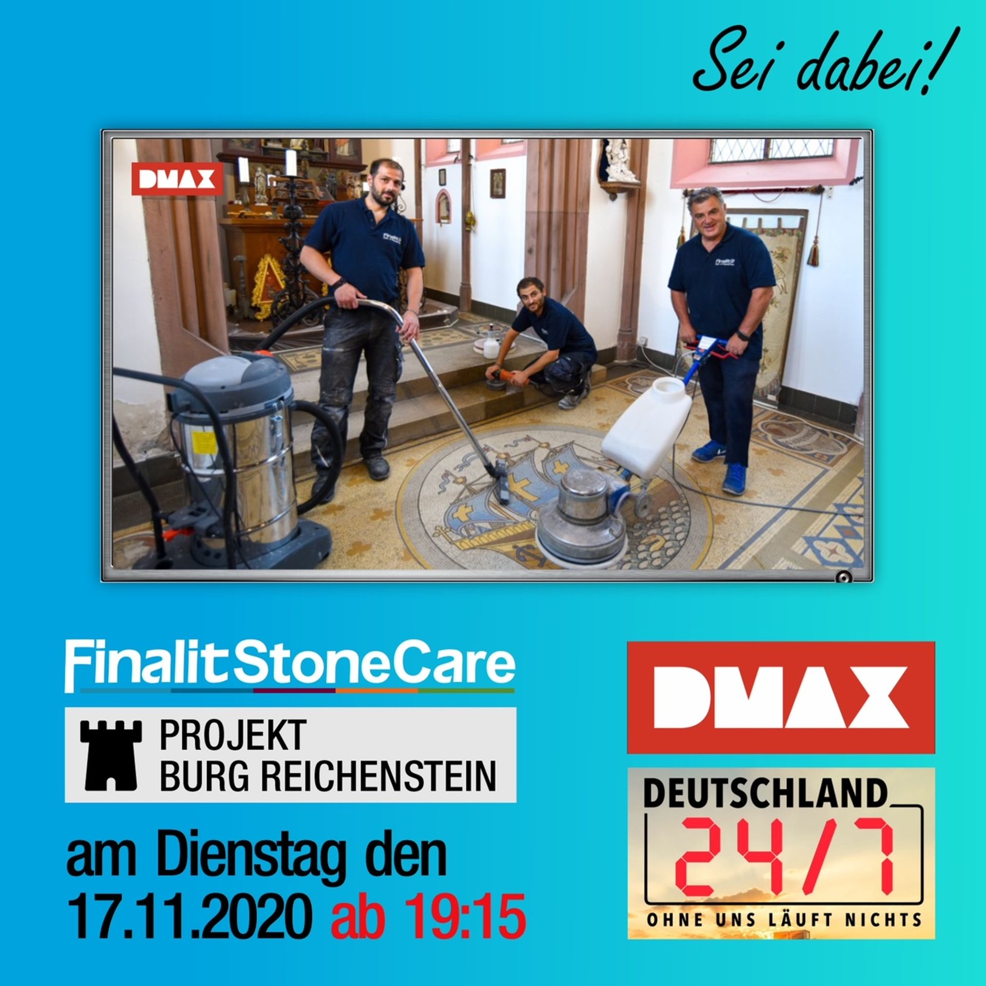 Finalit in Action bei DMAX am 17.11.2020 ab 19:15 Uhr