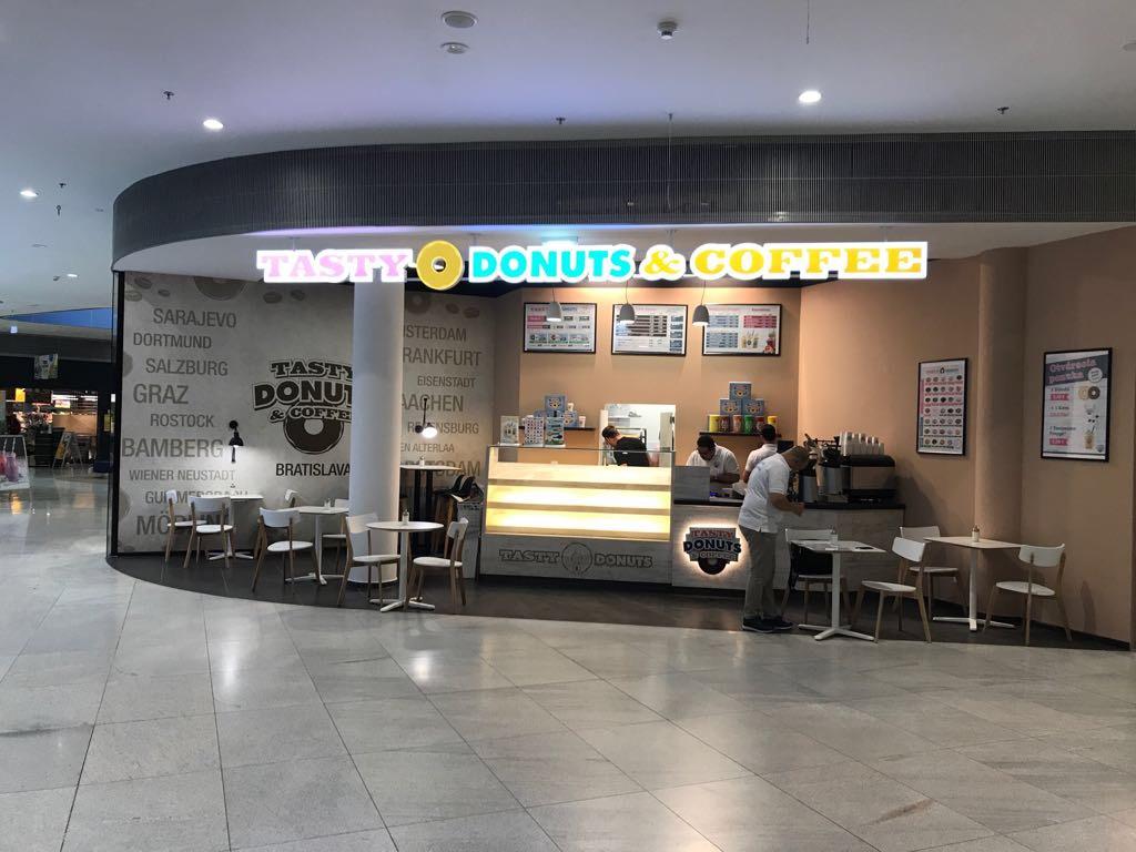 Tasty Donuts & Coffee eröffnet Standort in der Bory-Mall in Bratislava